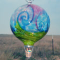 Wave Balloon–Gold Ruby/Turquoise/Lime