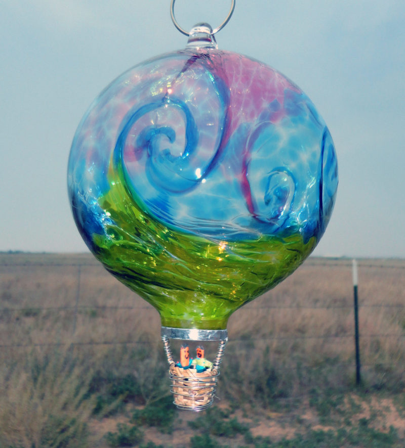 Glass Hot Air Balloon Robbins Ranch Art Glass