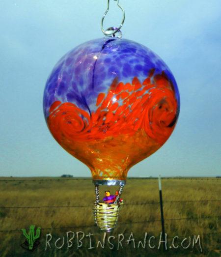 Stripe Balloon with Wave–Hyacinth/Xmas Red/Saffron