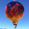 Stripe Balloon w/Wave–Purple Red Orange