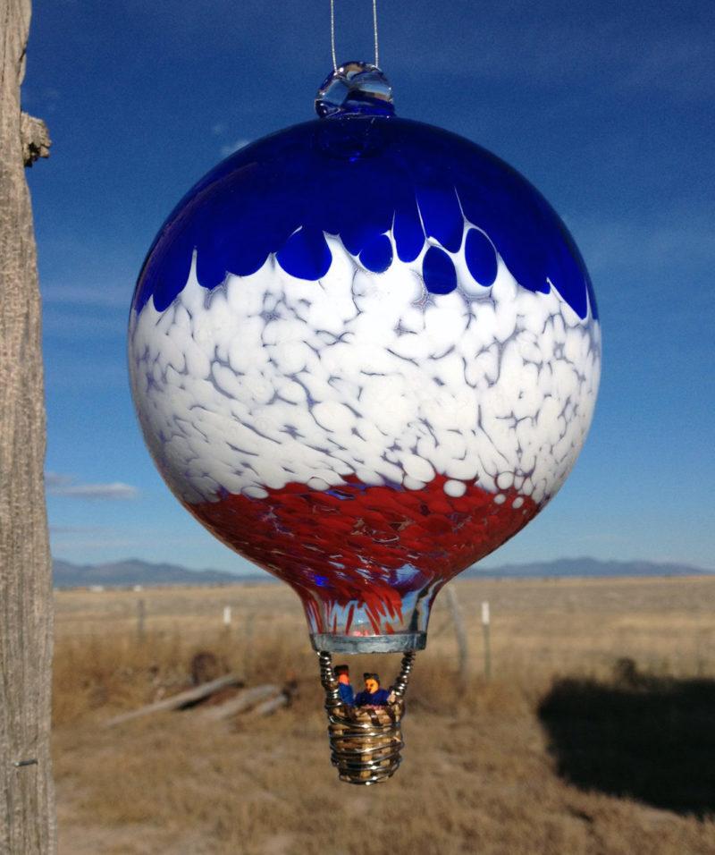Glass Hot Air Balloon Robbins Ranch Art Glass