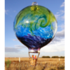 Stripe Balloon w/Wave – Lime Aquamarine Hyacinth
