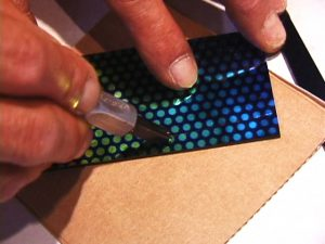 Cutting Strips of the Dot Pattern