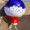 Hummingbird Feeder– Blue, White & Red Stripes