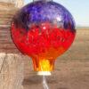 Hummer Feeder– Hyacinth, Xmas Red & Saffron Stripes