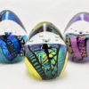 Dichroic Eggs – Sea Blue, Canary, Opal Violet