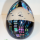 Dichroic Egg – Black w/Patterns