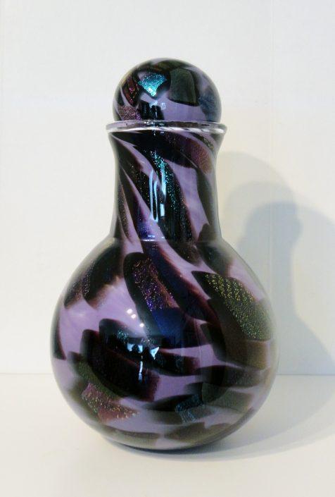 Opal Violet Urn w/ Dichroic