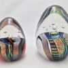 Dichroic Eggs – Fire Red & White