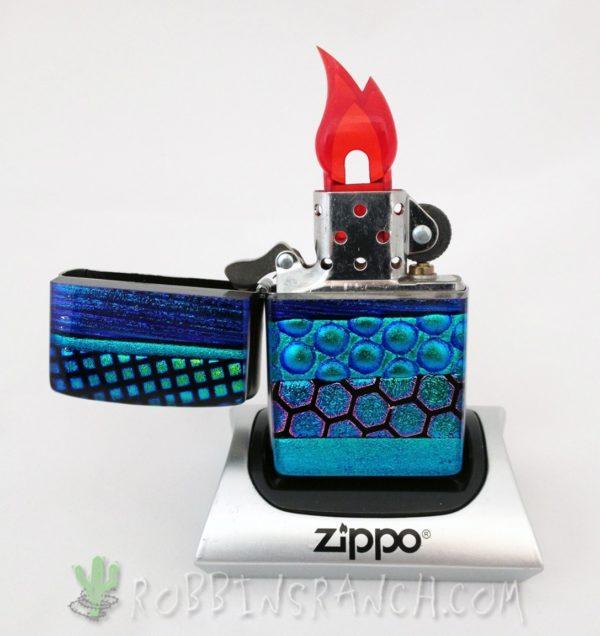 Dichroic Zippo w/Turquoise