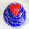 Pet Urn – Custom Blue Mix w/Red Heart