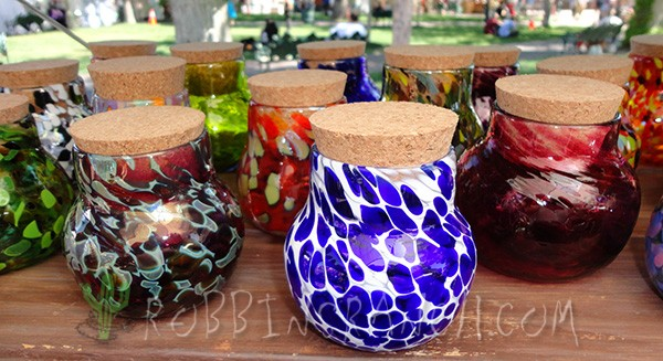 Hand Blown Glass Spice Jars