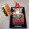 Zippo w/Black, CyanDkRed