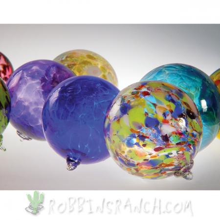 Hand-blown glass Christmas balls