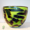 Glass Bowl – Apple Green w/Dichroic
