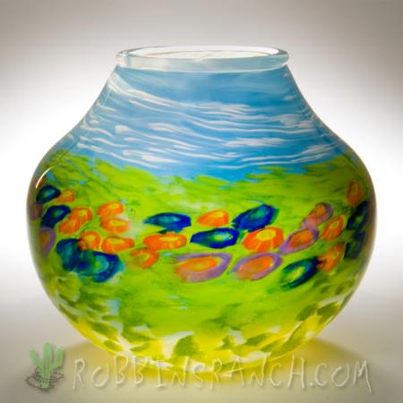 blown glass Indian pot