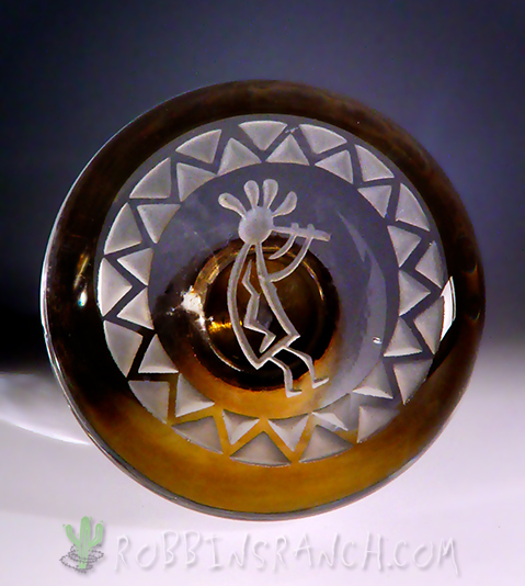 Doorknob – Sandblasted Kokopelli