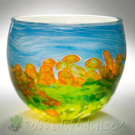 Glass Bowl – Field of Flowers