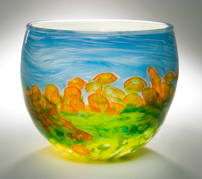 Poppies bowl
