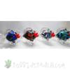 Blown Glass Kissing Fish w/ Dichroic Pieces