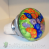 Murrine flowers hand blown glass bottle stopper