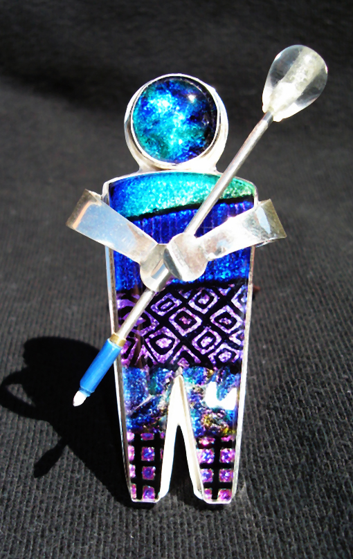 Dichroic Glass Pins
