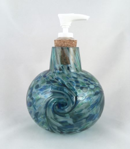 blown glass soap dispenser