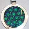 Dichroic Pendant – Circle with Radium