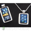 Dichroic glass pendants – Rectangle and Square