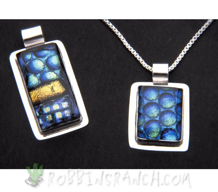 Dichroic glass pendants robbins ranch art glass dichroic glass pendants rectangle and square aloadofball Gallery