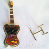 Dichroic glass guitar pin