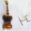 Dichroic glass guitar pin