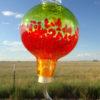 Hummingbird Feeder– Lime, Xmas Red & Saffron Stripes
