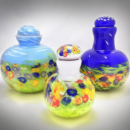 blown glass memorial urns